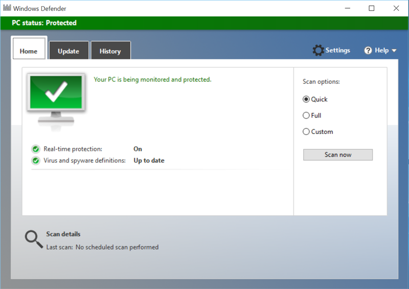 Windows Defender Antivirus Terbaik untuk Windows 10